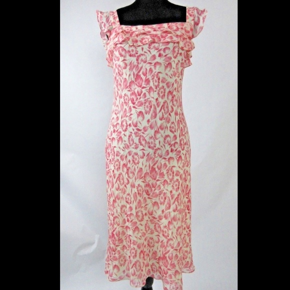 Ann TAYLOR LOFT Dresses & Skirts - 100% SILK Ann Taylor Loft Floral red dress, New